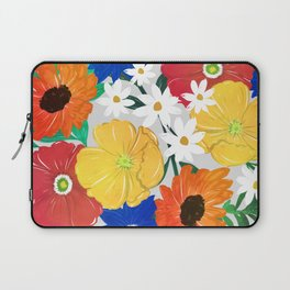 Colorful Spring Floral Hand Paint Girly Design Laptop Sleeve