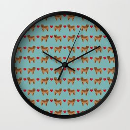 Chow Chow dog breed pure breed valentines day hearts love pet gifts must have doggo pupper lovers Wall Clock