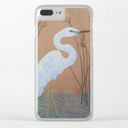 Unicorn Egret Clear iPhone Case