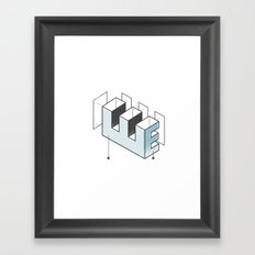The Exploded Alphabet / E Framed Art Print