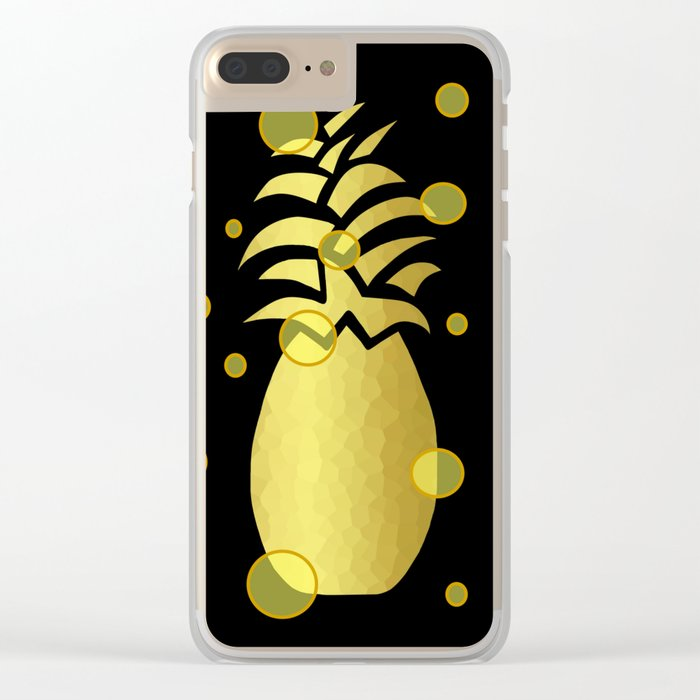 Ornate Gold Pineapple Clear iPhone Case
