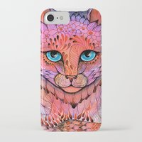 stickers iPhone & iPod Cases featuring SUNSET CAT by Ola Liola