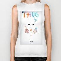 tupac Biker Tanks featuring BadA$$ B$tch: Thug Life by Alejandra Cantu