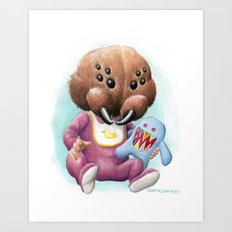 Sblinkeee and Her Bonac Bubbie Art Print