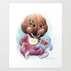 Sblinkeee and Her Bonac Bubbie Art Print