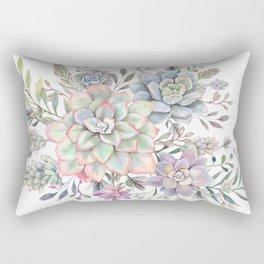 succulent watercolor 8 Rectangular Pillow