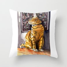 Cat Charlie Throw Pillow