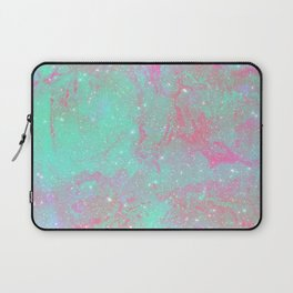 Teal Pink Marble Stars Laptop Sleeve