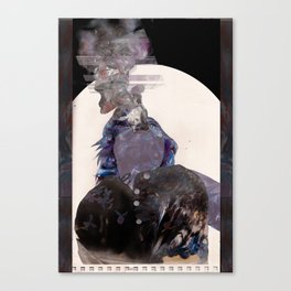 Smoking Lady Canvas Print