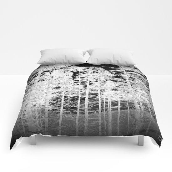 White Trees Vignette Comforters