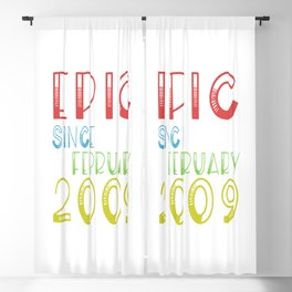 Epic Since February 2009 - Birthday 10th Blackout Curtain