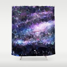 Galaxy Low Poly 42 Shower Curtain
