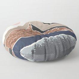Mount Hood // Daylight Art Print Oregon Stratovolcano Rose Gold Silver Blue Cream Black Mountain Floor Pillow