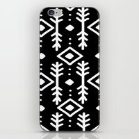 nordic iPhone & iPod Skins featuring BLACK NORDIC by Nika