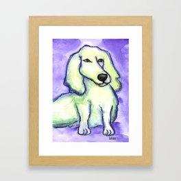 Lime Dog Framed Art Print