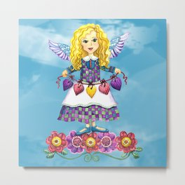 Angel Love (Turquoise) Metal Print