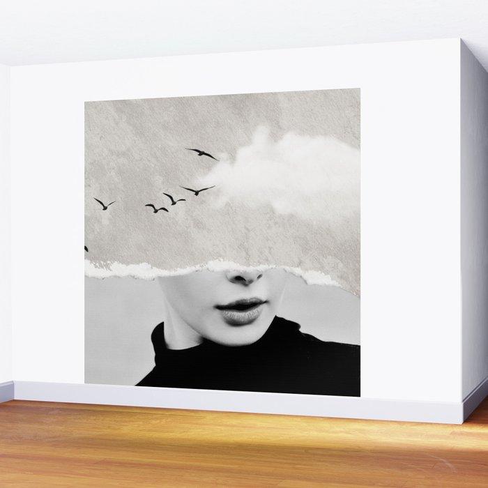 minimal collage /silence Wall Mural