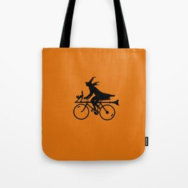 Witch on a Bicycle Tote Bag