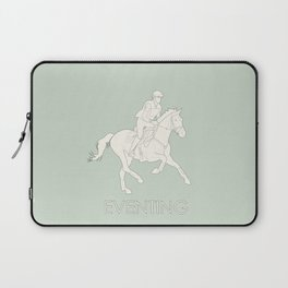 Eventing in green Laptop Sleeve