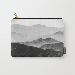 Glimpse - Black and White Mountains Landscape Nature Photography Carry-All Pouch