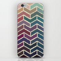 ikat iPhone & iPod Skins featuring Chevron iKat by Steven Womack