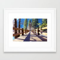 bridge Framed Art Prints featuring Bridge by Liveart4evr
