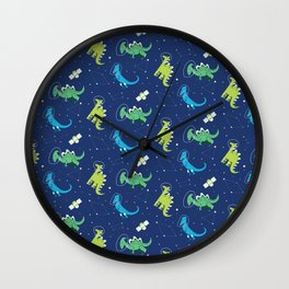 Dinosaurs Space dino kids Pattern Gift Wall Clock