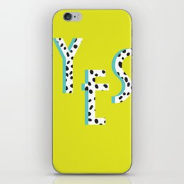 YES Poster | Lime Dalmatian Pattern iPhone Skin