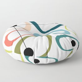 Mid Century Modern Pebbles Floor Pillow