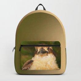 Painted laughing kookaburra Backpack