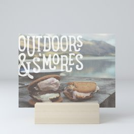 outdoors & S'mores Mini Art Print