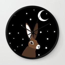 Moongazing Hare Wall Clock