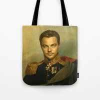 replaceface Tote Bags featuring Leonardo Dicaprio - replaceface by replaceface