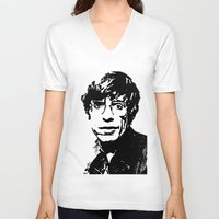 stephen king V-neck T-shirts featuring Stephen Hawking by Silvio Ledbetter