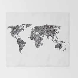 Word Map in a parallel universe Throw Blanket