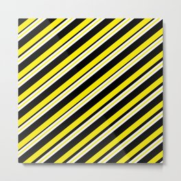 Team colors 1...double yellow,black and white. Metal Print