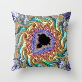 Colorful Slopes Mandelbrot Fractal Throw Pillow