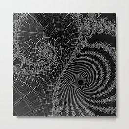 Peaks And Troughs 2 Inverted Metal Print