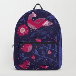 Royal Birds in a Tree Backpack
