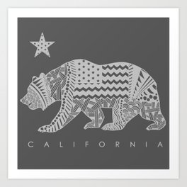 California grey Art Print