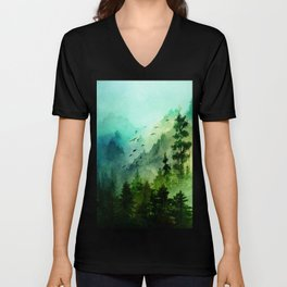 Mountain Morning Unisex V-Neck