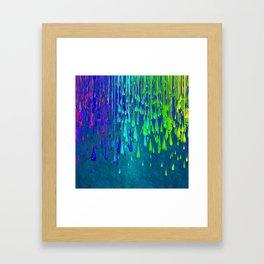 Dripping Paint Framed Art Print