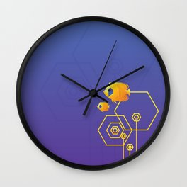 Addis Butterflyfish Wall Clock