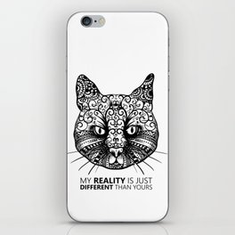 Different Reality Cat iPhone Skin
