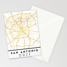 SAN ANTONIO TEXAS CITY STREET MAP ART Stationery Cards