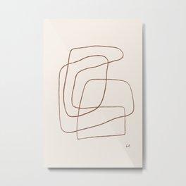 YOKO - Line Art Drawing Metal Print