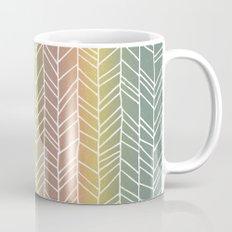 Colorful Rainbow Feather Pattern Mug
