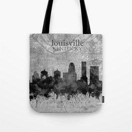 louisville skyline vintage 3 Tote Bag