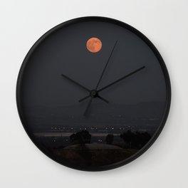 Dawn of the Supermoon Wall Clock