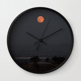 Dawn of the Supermoon Wall Clock